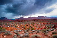 March 14, 2018: Wind and winter storm clouds make for dramatic skies in the Castle Valley near Canyonlands and Arches National Parks, Utah.