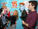 """Matt Dengler with Avenue Q & Puppetry Fans during """"Avenue Q"""" Celebrates World Puppetry Day at The New World Stages on 3/21/2019 in New York City."""