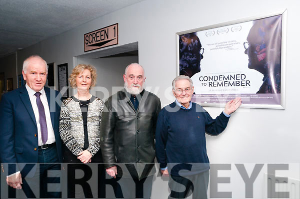 "Screening: Attending the screening of the Holocaust survivor's Tomi Reichental's documentary ""Condemned to Remember"" at the Classic Cinema, Listowel on Monday night last were Jimmy Deenihan, Theresa Gleeson, Gerry Greg, producer & Tomi Reichental."