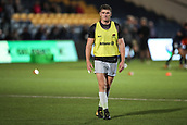 29th September 2017, Sixways Stadium, Worcester, England; Aviva Premiership Rugby, Worcester Warriors versus Saracens; Owen Farrell of Saracens warms-up prior to the match