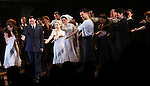Rachel Potter, Maya Jade Frank, Michael Cerveris, Elena Roger, Ricky Martin & Max Von Essen  with the Company.during the Broadway Opening Night Performance Curtain Call for 'EVITA' at the Marquis Theatre in New York City on 4/5/2012