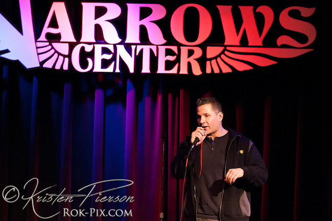 Comedian Mike Vecchione performs at the Narrows Center for the Arts on January 24 2015.