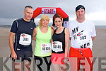 Brendan Hoare, Margaret Hoare, Erin Hoare and Aidan O'Connor at the The Brandon Bay half marathon and 10k run, Ireland's first and only running event entirely run on a beach,  in the Maharees, Castlegregory,  on Saturday