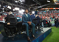 MIAMI, FL - FEBRUARY 2: FOX NFL SUNDAY Pregame Analyst & THURSDAY NIGHT FOOTBALL Host Michael Strahan at the Fox Sports broadcast of Super Bowl LIV at Hard Rock Stadium on February 2, 2020 in Miami, Florida. (Photo by Frank Micelotta/Fox Sports/PictureGroup)