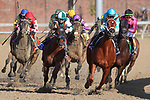 November 3, 2018: Monomoy Girl #11, ridden by Florent Geroux, leads the field into the fourth turn in the Longines Breeders' Cup Distaff on Breeders' Cup World Championship Saturday at Churchill Downs on November 3, 2018 in Louisville, Kentucky. Wendy Wooley/Eclipse Sportswire/CSM