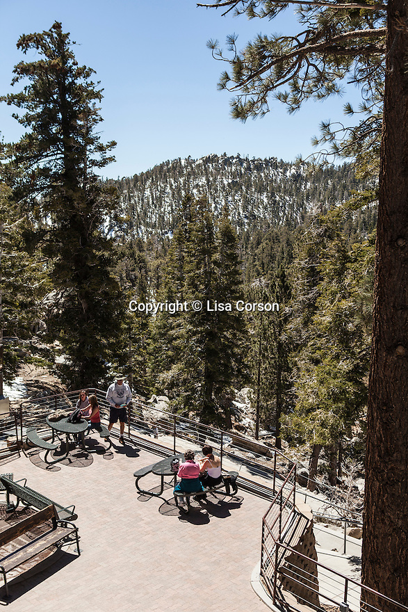 Picnic area at the top of the Palm Springs Aerial Tram, Palm Springs, CA. Images are available for editorial licensing, either directly or through Gallery Stock. Some images are available for commercial licensing. Please contact lisa@lisacorsonphotography.com for more information.