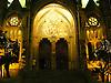 christmas decoration with peace pigeon at the portal of the parrish church Saint Bartholomew<br /> <br /> decoraci&oacute;n de navidad con paloma de paz y &quot;Pau al Mon&quot; en el portal de la parroquia San Bartolom&eacute; (cat. Sant Bartomeu)<br /> <br /> Weihnachtsdekoration mit Friedenstaube und Pau al Mon (Frieden auf Erden) am Portal der Pfarrkirche Sankt Bartholom&auml;us<br /> <br /> 2272 x 1704 px<br /> 150 dpi: 38,47 x 28,85 cm<br /> 300 dpi: 19,24 x 14,43 cm