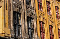 Europe/France/Nord-Pas-de-Calais/59/Nord/Lille: Détail façades des maisons rue de la Monnaie