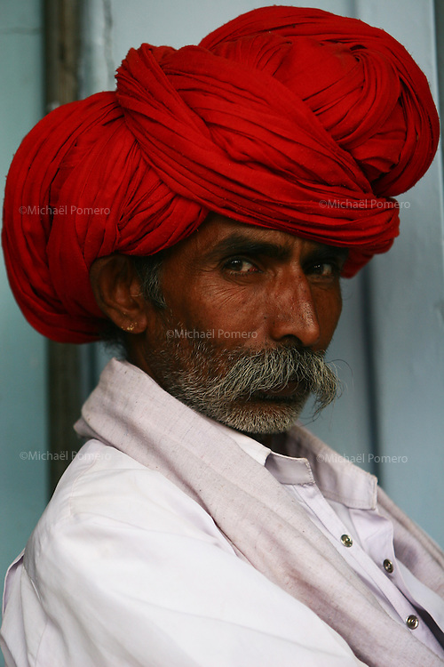 21.10.2008 Bundi(Rajasthan)<br /> <br /> Portrait of a man.<br /> <br /> Portrait d'un homme.