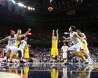The University of Michigan Men's Basketball team competed against the University of Virginia in the Big Ten ACC Challenge at Virginia. November 29th, 2011.