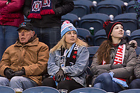 Bridgeview, IL - Saturday March 31, 2018: Fans during a regular season National Women's Soccer League (NWSL) match between the Chicago Red Stars and the Portland Thorns FC at Toyota Park.