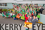 Supporters for Shauna Nolan on the Voice of Ireland from her old school FENIT National School Pictured two nieces Isabel Nolan, Ava Nolan, sister Caitlin Nolan and friend Amy Kelly with staff and pupils on Fenit NS