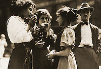 """Historical Views:  Lewis Hine Photograph """"Lunchtime, 1915"""".  Photo '78.  Reference only."""