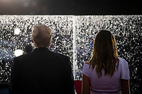 """U.S. President Donald Trump and first lady Melania Trump participate during the Fourth of July Celebration 'Salute to America' event in Washington, D.C., U.S., on Thursday, July 4, 2019. The White House said Trump's message won't be political -- Trump is calling the speech a """"Salute to America"""" -- but it comes as the 2020 campaign is heating up. <br /> h<br /> CAP/MPI/CNP<br /> ©CNP/MPI/Capital Pictures"""