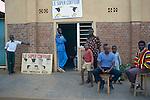 A  city barber in Kigali, the capital of Rwanda
