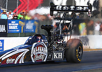 Jul. 25, 2014; Sonoma, CA, USA; NHRA top fuel driver Shawn Langdon during qualifying for the Sonoma Nationals at Sonoma Raceway. Mandatory Credit: Mark J. Rebilas-
