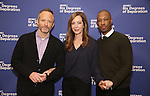 John Benjamin Hickey, Allison Janney and Corey Hawkins   attend the 'Six Degrees Of Separation' Cast Meet & Greet at The New 42nd Street Studios on March 1, 2017 in New York City.