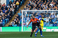 (L-R) Cameron Carter-Vickers of Swansea City challenged by Rolando Aarons of Sheffield Wednesday during the Sky Bet Championship match between Sheffield Wednesday and Swansea City at Hillsborough Stadium, Sheffield, England, UK. Saturday 23 February 2019