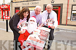 SAVE FOR CHRISTMAS: Tralee Credit Union launched their 'It's not too SOON to start saving in JUNE for Christmas' campaign this week. PIctured were: Helen Geary, Fintan Ryan (Manager of Tralee CU), Mike Lynch and Suzanne 'Santa' Ennis.