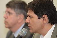 SAO PAULO, 27 DE JUNHO DE 2012 - NOVO VICE HADDAD NADIA CAMPEAO - Ministro Haddad em anuncio de Nadia Campeao como novo vice do candidato Fernando Haddad a prefeitura de Sao Paulo, no diretorio municipal do PT, regiao central da capital . FOTO: ALEXANDRE MOREIRA - BRAZIL PHOTO PRESS