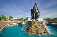 Golden Heart Park, First Family statue, downtown Fairbanks, Alaska