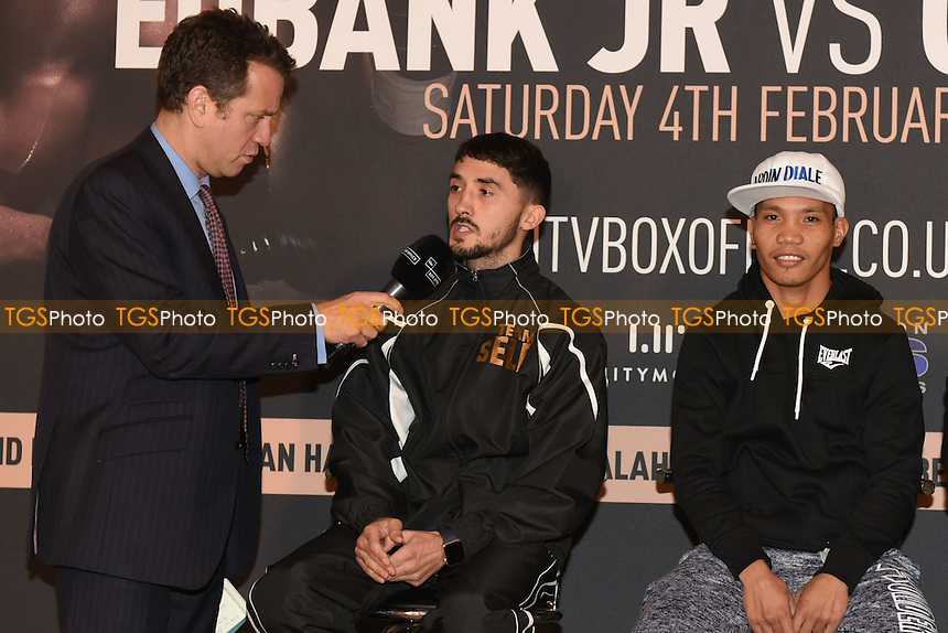 Boxer Andrew Selby is interviewed during a Poxon Sports Press Conference at the Apex Room on 2nd February 2017