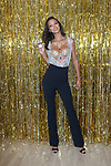 "Victoria's Secret Angel Lais Ribeiro reveals ""The 2017 Champagne Night Fantasy Bra"" designed exclusively for Victoria's Secret by Mouawad, and holds ""Bombshell Nights"" fragrance, November 1, 2017."