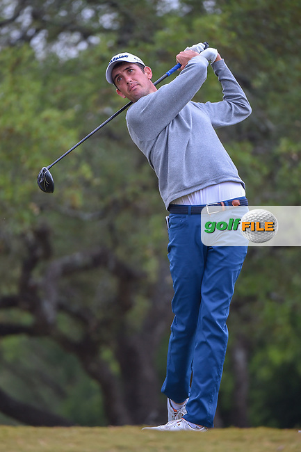 Chesson Hadley (USA) watches his tee shot on 2 during Round 3 of the Valero Texas Open, AT&T Oaks Course, TPC San Antonio, San Antonio, Texas, USA. 4/21/2018.<br /> Picture: Golffile | Ken Murray<br /> <br /> <br /> All photo usage must carry mandatory copyright credit (© Golffile | Ken Murray)