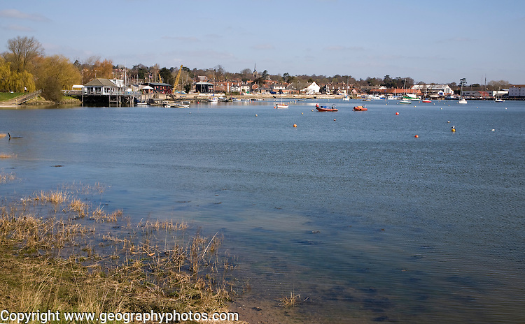 General view of the River Deben at Woodbridge, Suffolk, England