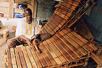 Local musician playing a balafon, Accra, Ghana, Africa.