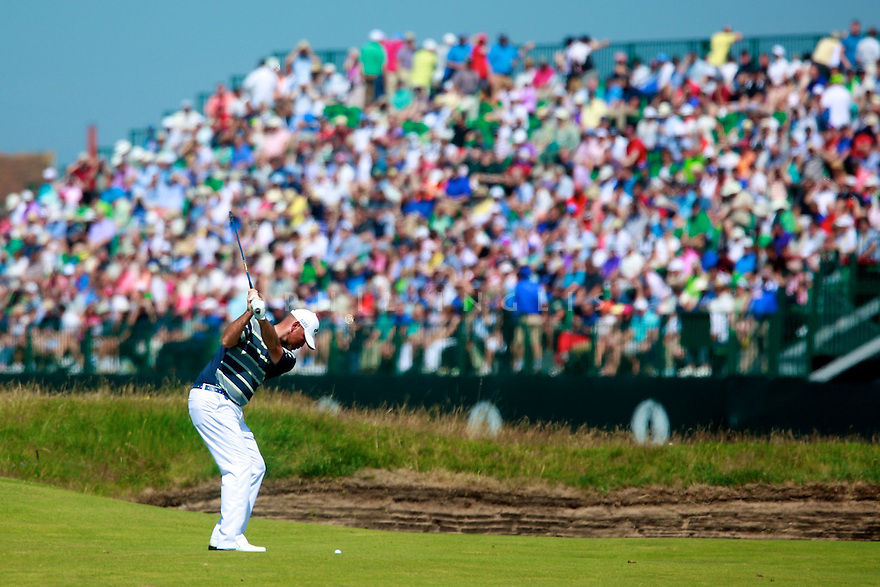 Thomas BJORN (DEN) in action during the first round of  The 143rd Open Championship played at Royal Liverpool Golf Club, Hoylake, Wirral, England. 17 - 20 July 2014 (Picture Credit / Phil Inglis)
