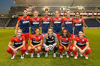Chicago, IL - Saturday Sept. 24, 2016: Washington Spirit Starting XI prior to a regular season National Women's Soccer League (NWSL) match between the Chicago Red Stars and the Washington Spirit at Toyota Park.