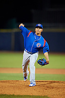 South Bend Cubs starting pitcher Jesus Camargo (25) delivers a pitch during the second game of a doubleheader against the Lake County Captains on May 16, 2018 at Classic Park in Eastlake, Ohio.  Lake County defeated South Bend 5-2.  (Mike Janes/Four Seam Images)
