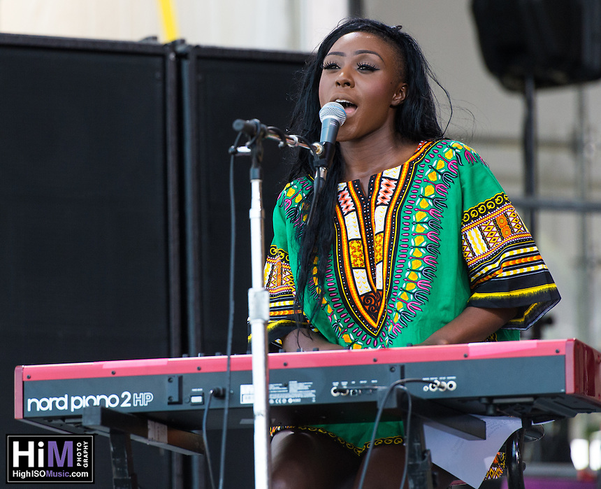 Laura Mvula performs at the 2014 Jazz and Heritage Festival in New Orleans, LA.