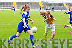 Emma O'Regan from Presentation Primary school Castleisland in Action  at the Allianz Cumann na mBunscol, Girls Finals at Austin Stacks Park on Tuesday
