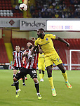 Kieron Freeman of Sheffield United tussles with Hiram Boateng of Bristol Rovers during the EFL League One match at the Bramall Lane Stadium, Sheffield. Picture date: September 27th, 2016. Pic Jamie Tyerman/Sportimage