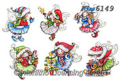 Interlitho-Theresa, CHRISTMAS CHILDREN, WEIHNACHTEN KINDER, NAVIDAD NIÑOS, paintings+++++,6 elves,KL6149,#xk#,sticker,stickers