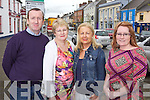 Danny Scanlon(Scanlon Flooring), Kathleen Collins(Kathleen's Foodstore), Annette Mann(Anette's Boutique) and Kathleen O'Keeffe(Trendy Locks) pictured last Thursday at the square in Abbeyfeale Town.