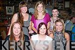 Tralee girls,seated l-r: Anette Henriksson (Killeen) Cliona Whelan (Killeen) and Adeline Palleschi (Monavalley) all celebrated birthdays last Saturday night in Finnigan's restaurant, Tralee. Back l-r: Tedra Erickson, Amanda Belyea and Siobhan O'Sullivan.