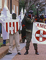 Annapolis, Maryland, USA, February 7, 1998<br /> KKK rally in Annapolis Md. at the State House. Credit: Mark Reinstein/MediaPunch