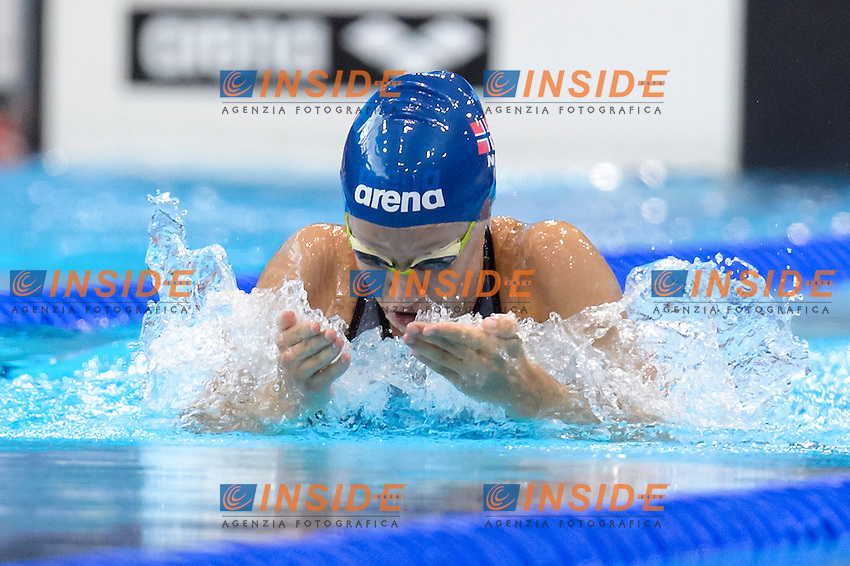 Ariel BRAATHEN NOR <br /> 100m Breaststroke Women <br /> London, Queen Elizabeth II Olympic Park Pool <br /> LEN 2016 European Aquatics Elite Championships <br /> Swimming<br /> Day 09 17-05-2016<br /> Photo Andrea Staccioli/Deepbluemedia/Insidefoto