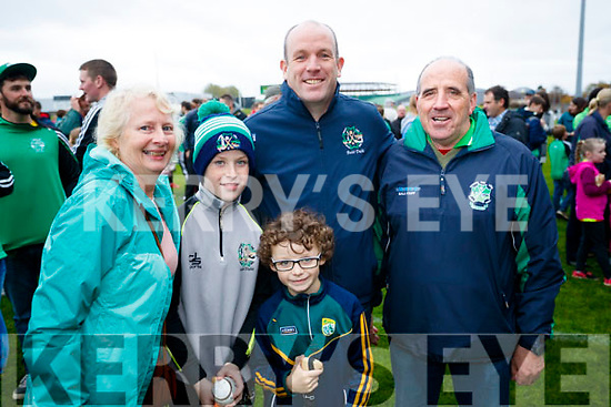 Eileen Bunyan, Adam Lynch, Ger Lynch, Ben Lynch and John White, Ballyduff after the Senior County Hurling Final in Austin Stack Park on Sunday