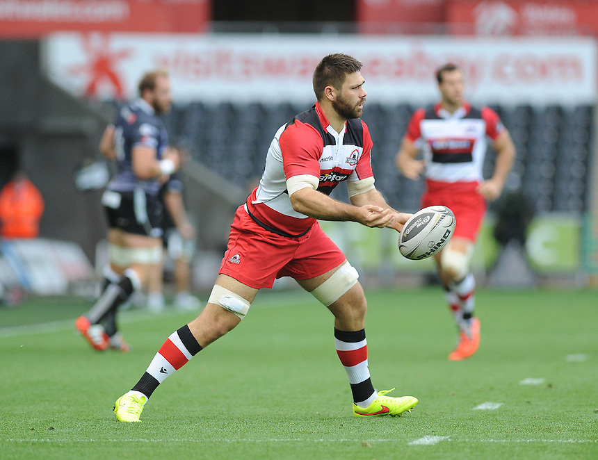 Edinburgh&rsquo;s Cornell Du Preez in action during today's match <br /> <br /> Photographer Ashley Crowden/CameraSport<br /> <br /> Rugby Union - Guinness PRO12 - Ospreys v Edinburgh Rugby - Sunday 21st September 2014 - The Liberty Stadium - Swansea<br /> <br /> &copy; CameraSport - 43 Linden Ave. Countesthorpe. Leicester. England. LE8 5PG - Tel: +44 (0) 116 277 4147 - admin@camerasport.com - www.camerasport.com