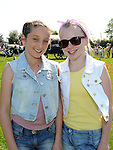 Niamh Warnett and Kayleigh Everitt pictured at Tullyallen sports day. Photo: Colin Bell/pressphotos.ie