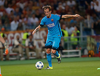 Barcellona's Ivan Rakitic during the Champions League Group E soccer match against AS Roma  at the Olympic Stadium in Rome September 16, 2015