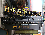 42nd street Theatre Marquee unveiling for 'Harry Potter and the Cursed Child'  at The Lyric Theatre on March 20, 2018 in New York City.