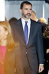 Spain's crown Prince Felipe de Borbon attends an award ceremony. October 31, 2012. (ALTERPHOTOS/Alvaro Hernandez)