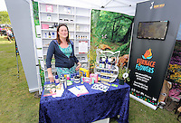 Pictured: Caroline Matthews of Caz Aroma Saturday 13 August 2016<br />Re: Grow Wild event at  Furnace to Flowers site in Ebbw Vale, Wales, UK