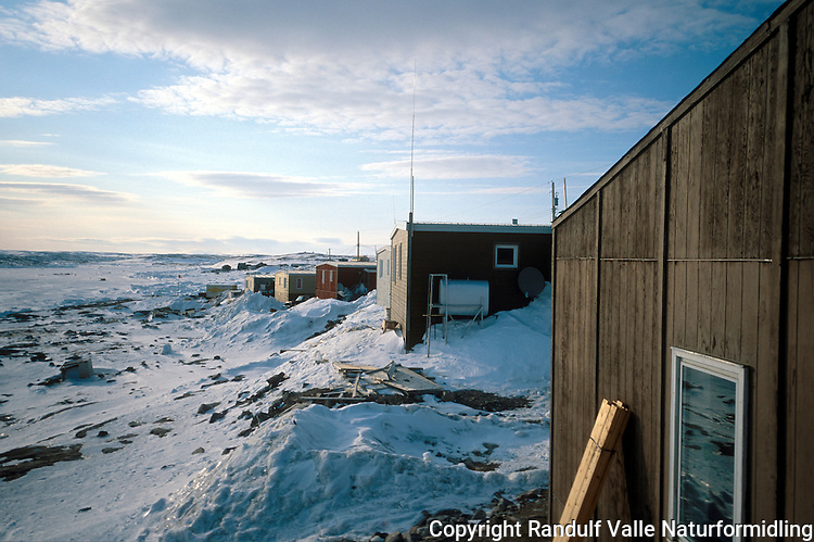 Bosetningen Repulse Bay ved Hudson Bay i Canada. ---- The settlement Repulse Bay by Hudson Bay,  Canada.