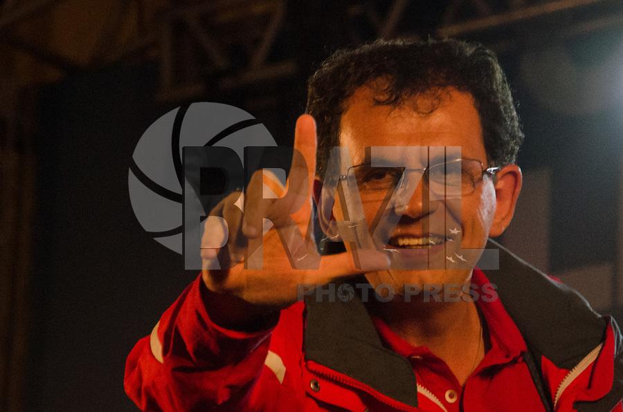 """RIO DE JANEIRO, RJ - 14.09.2018 - ELEIÇÕES-2018, O vereador Reimont do PT Partido dos trabalhadores foi no comicio do candidato à presidência da Repùblica  PT, Fernando Haddad, a vice Manuela d""""Avila, o senador Lindbergh Farias e a candidata ao governo do Rio, Marcia Tiburi, em frente a Camara Municipal do Rio de Janeiro, (RJ)  nesta sexta-feira, Rio de Janeiro, 14, (Foto: Vanessa Ataliba/Brazil Photo Press)"""